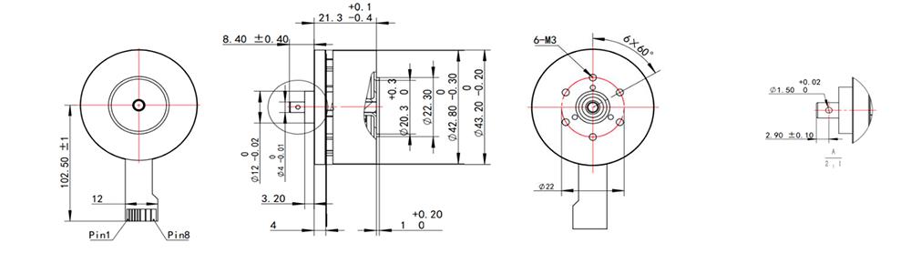 EC4522 Dimensions