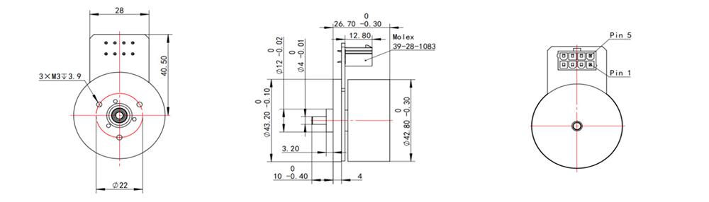 EC4527 Dimensions