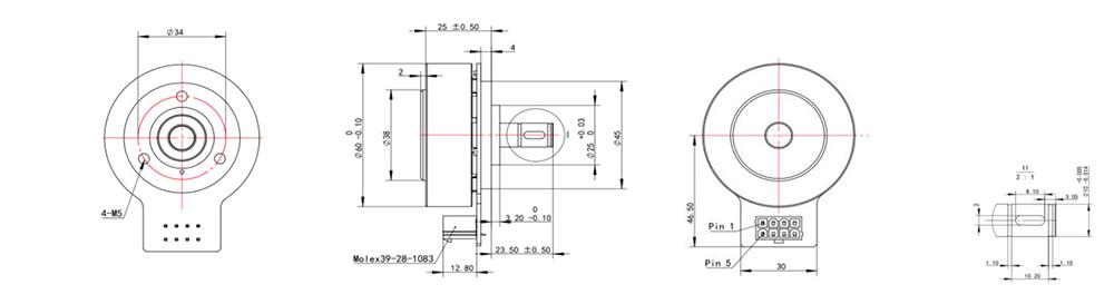 EC6025 Dimensions