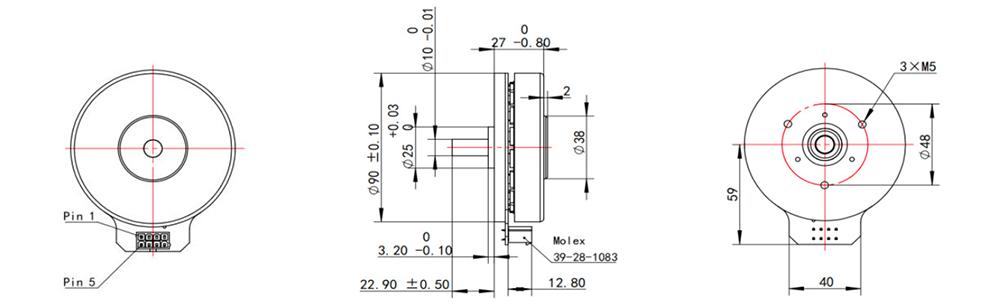 EC9027-3 Dimensions